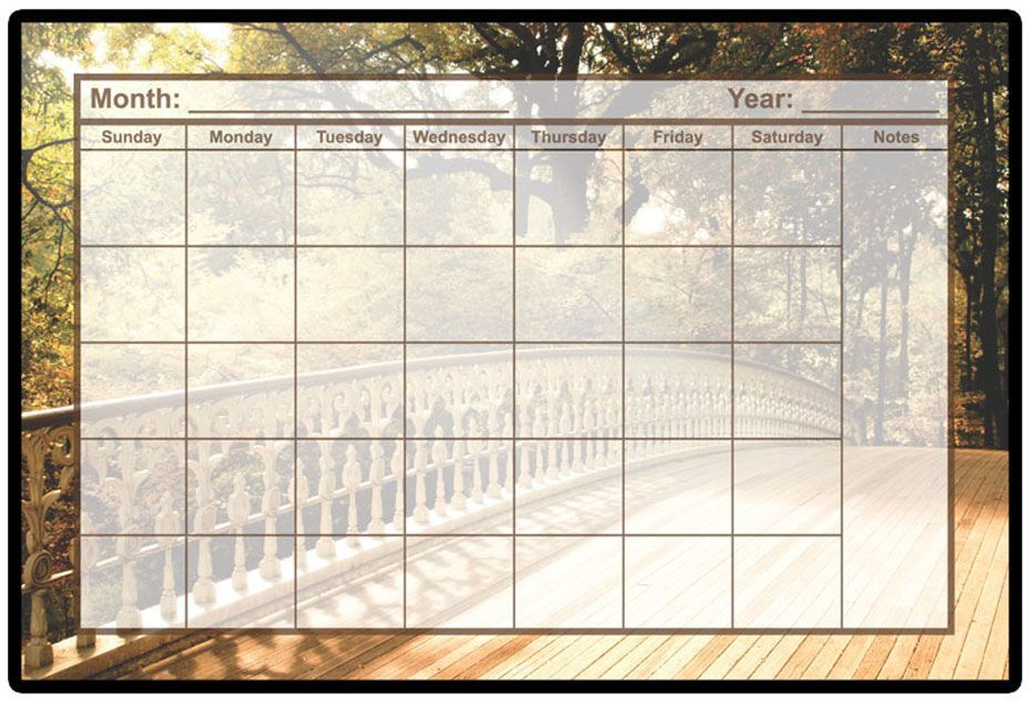 Calendar custom dry erase board
