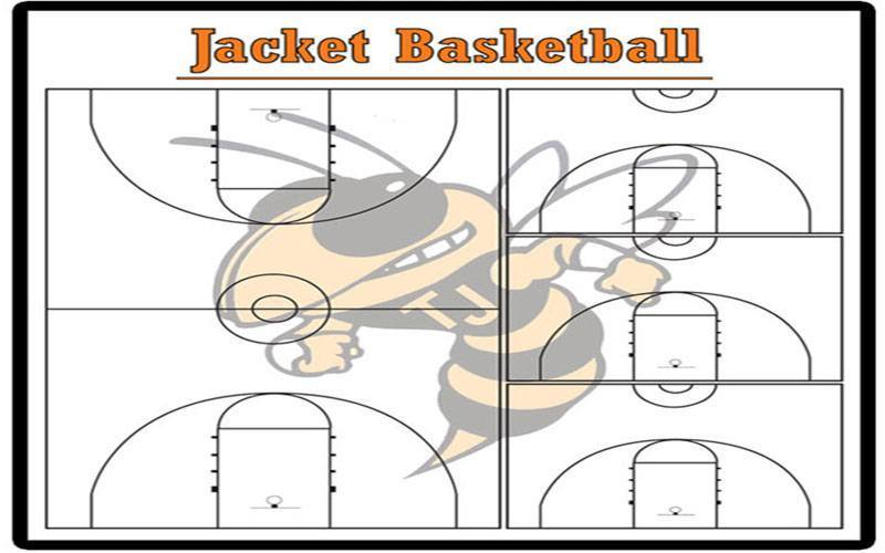 Basketball diagram custom dry erase board