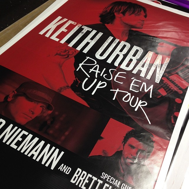 Keith Urban - Raise Em Up Tour banner