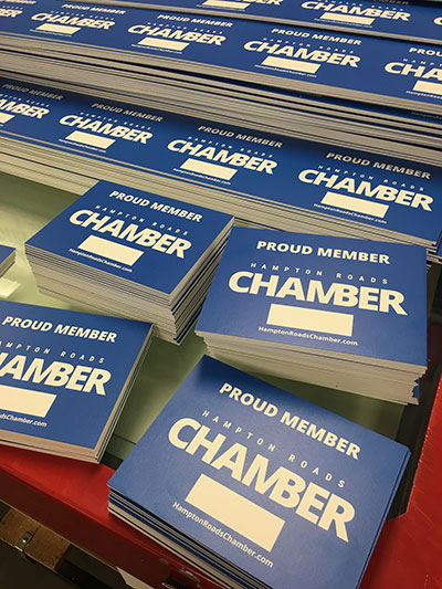 Hampton Roads Chamber of Commerce member placards