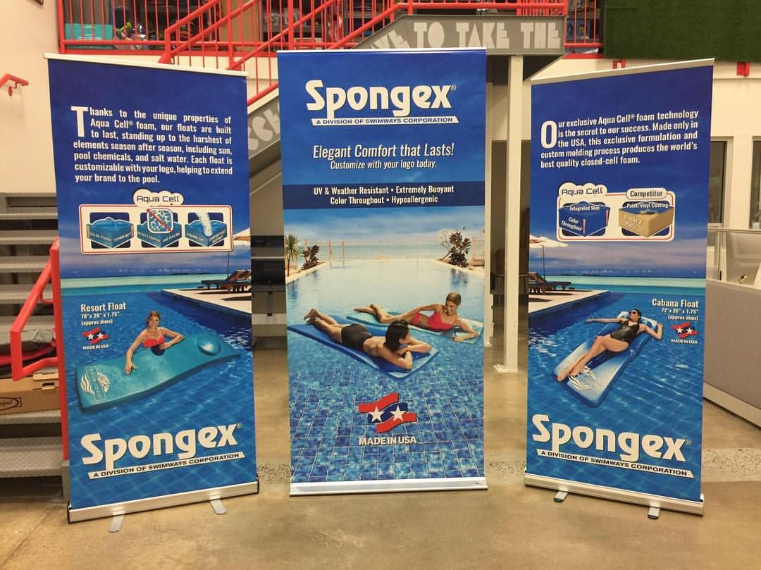 Swimways retractable banners